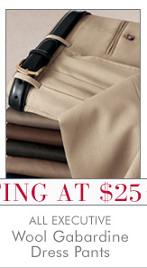 All Executive Wool Gabardine Dress Pants