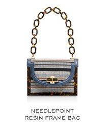 NEEDLEPOINT RESIN FRAME BAG