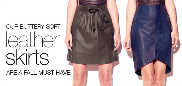 Our buttery soft leather skirts are a Fall must-have