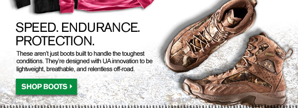 BOOTS - SPEED. ENDURANCE. PROTECTION. SHOP