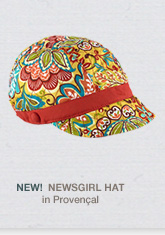 NEW! Newsgirl Hat in Provencal