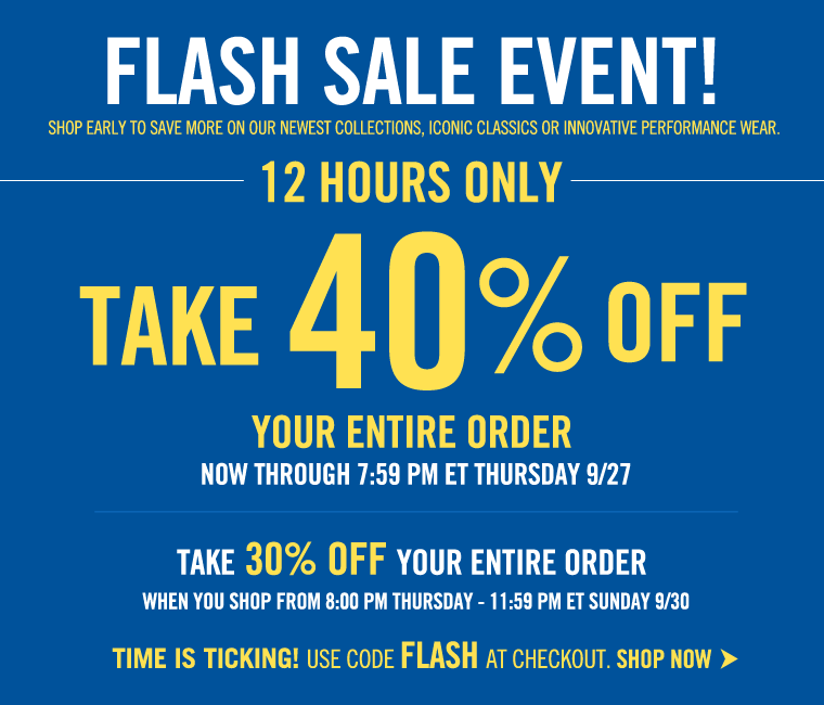 FLASH SALE EVENT! 30 HOURS ONLY! Take 30% off!