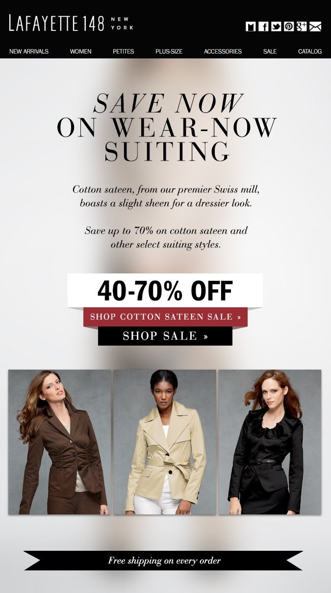 New Markdowns and Further Reductions: Fall Suiting