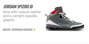 JORDAN SPIZIKE iD | Now with nubuck leather and a cement-speckle graphic | SHOP JORDAN SHOES