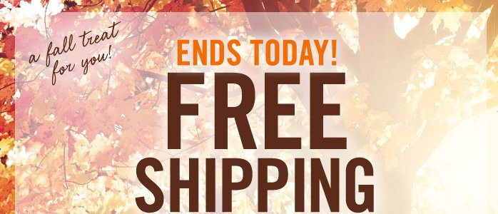 Free shipping with any online purchase of $25 or more*
