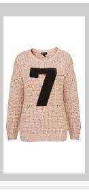 Knitted 7 Motif Jumper