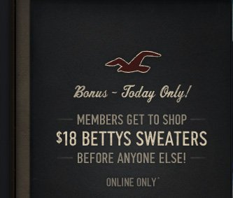 MEMBERS GET TO SHOP $18 BETTYS SWEATER BEFORE ANYONE ELSE