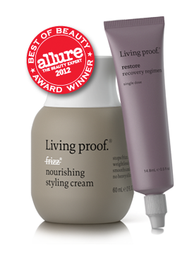 Living Proof Award Winners: No Frizz Nourishing Styling Cream and Restore Recovery Regimen