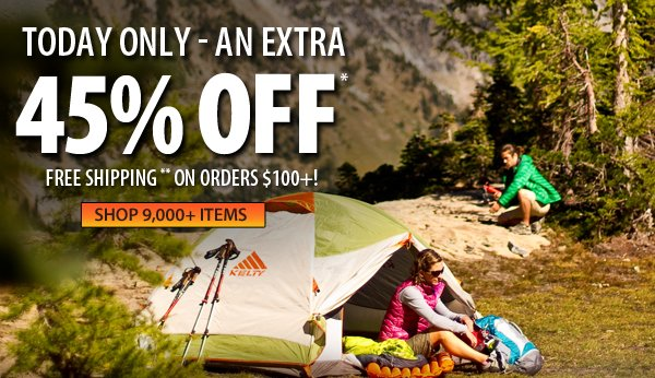 An extra 45% OFF over 9,000 items!