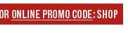 Promo Code: SHOP