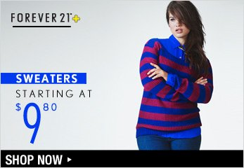 F21 PLUS: Sweaters Starting at $9.80 - Shop Now