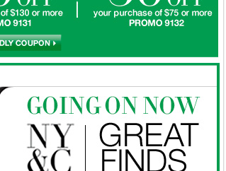 Going on now: Shop Fall Great Finds at amazing prices!