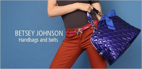 Betsey Johnson Handbags and Belts
