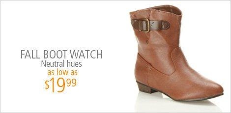 Fall Boot Watch