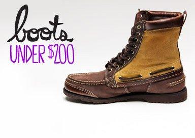 Shop Boots Under $200
