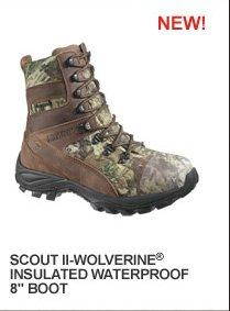 """Scout II Wolverine Insulated Waterproof 8"""" Boot"""