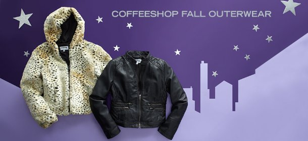 COFFEESHOP FALL OUTERWEAR, Event Ends October 3, 9:00 AM PT >