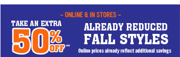 50% Off Fall Styles