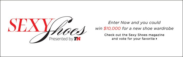 Enter Now and you could win $10,000 for a new shoe wardrobe