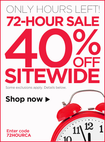ONLY HOURS LEFT! 72-HOUR SALE, 40% OFF SITEWIDE – Shop now!