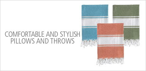 COMFORTABLE AND STYLISH PILLOWS AND THROWS