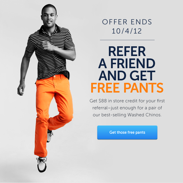 GET THOSE FREE PANTS