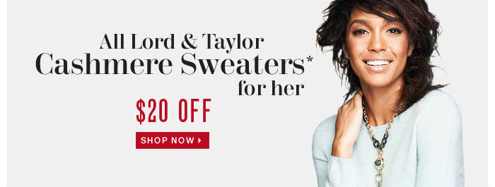 20$ Off Cashmeere sweaters for her
