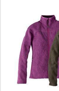 Full-Zip Fleece Sweater