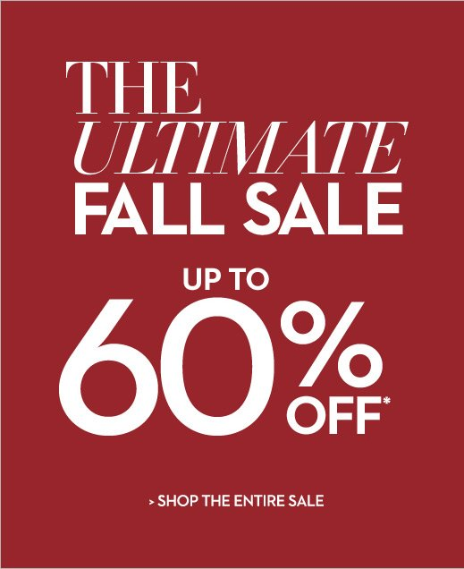 The Ultimate FALL SALE