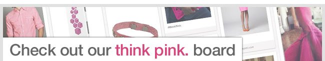 Check out our think pink. board | Follow eBags.com on Pinterest