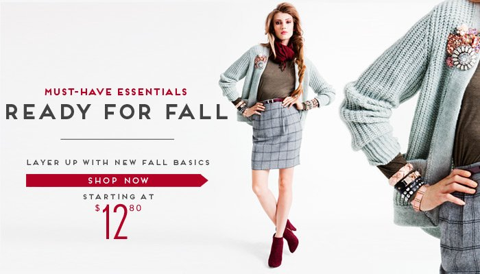 Our Must-Have Fall Essentials - Shop Now