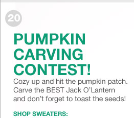 PUMPKIN CARVING CONTEST! | SHOP SWEATERS: