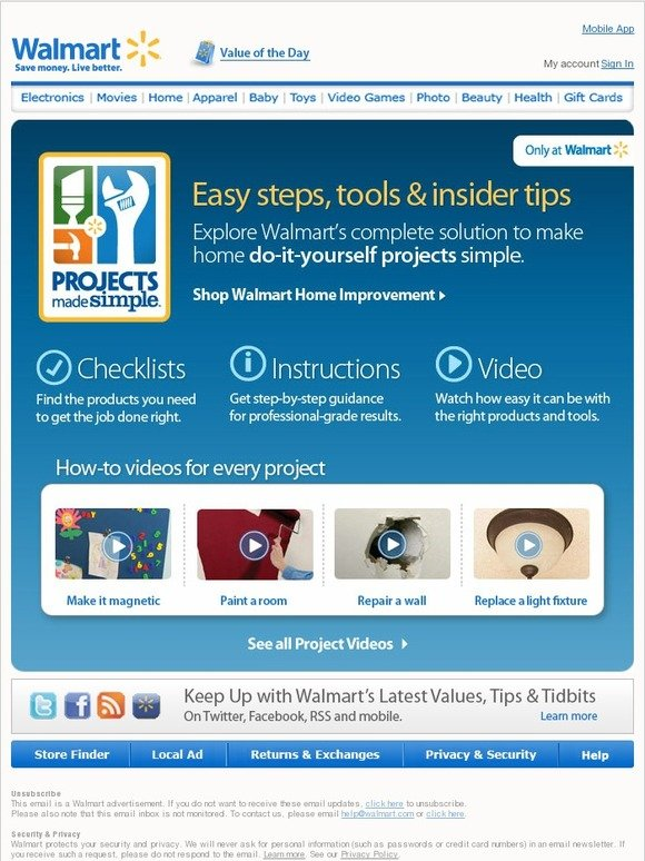 Walmart you made that yourself diy projects made simple with how walmart you made that yourself diy projects made simple with how to videos and tips milled solutioingenieria Images