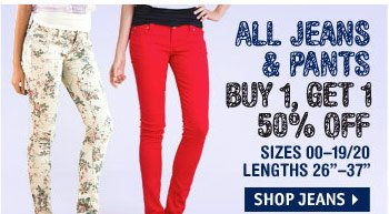 ALL PANTS & JEANS BUY 1, 