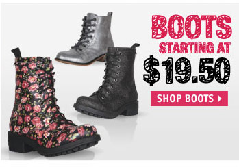 BOOTS STARTING AT 