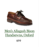 Men's Allagash Bison Handsewns, Oxford, $99