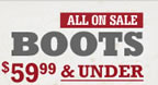 $59.99 & Under Boots