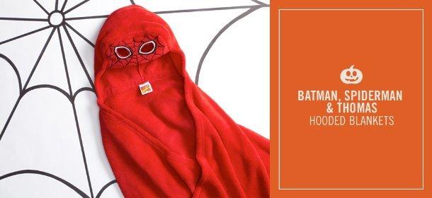 BATMAN, SPIDERMAN & THOMAS: HOODED BLANKETS, Event Ends October 5, 9:00 AM PT >