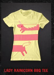 LADY RAINICORN BBQ TEE