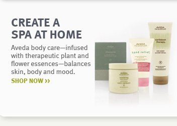 create a spa at home. shop 