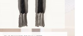Chunky Cable Contrast Scarf
