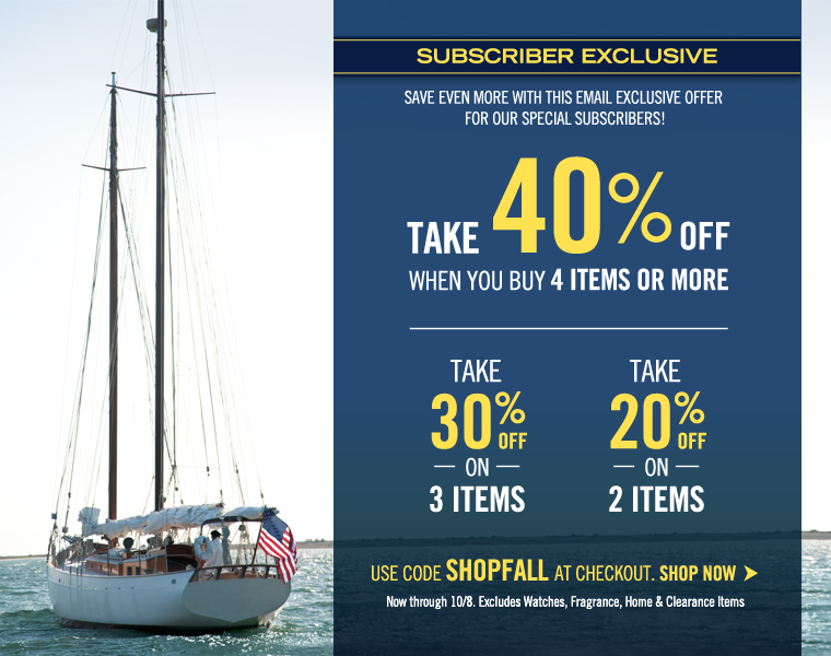 SUBSCRIBER EXCLUSIVE PREVIEW! Take 40% off when you buy 4 items or more!