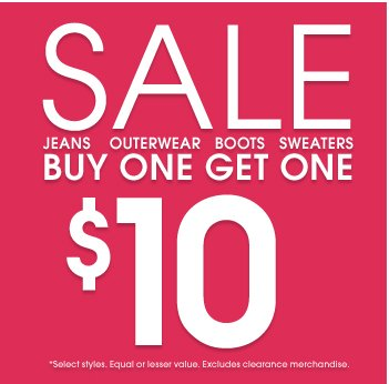 Sale - Buy one Get One 50% Off