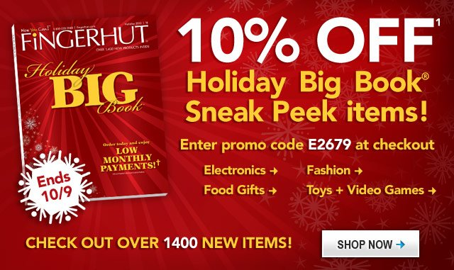 Holiday Big Book Sneak Peek, Save 10% Enter promo code E2679 at checkout.
