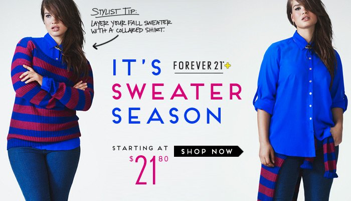 New Plus Sweaters - Shop Now
