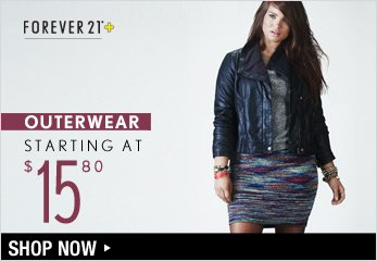 Plus Outerwear Starting at $15.80 - Shop Now