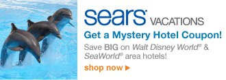 SEARS(R) VACATIONS | Get a Mystery Hotel Coupon! | Save BIG on Walt Disney World® & SeaWorld® area hotels! | shop now