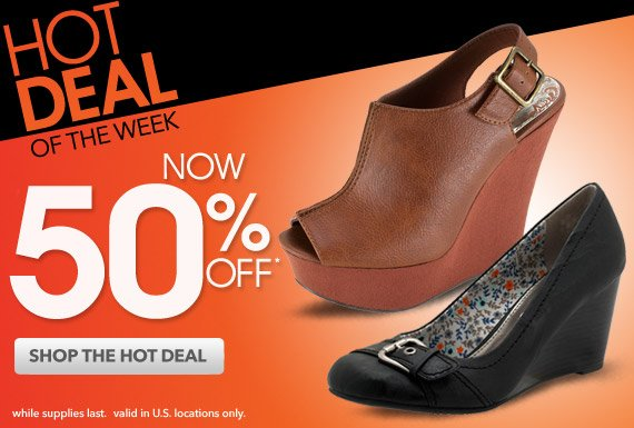 HOT DEAL OF THE WEEK: 50% off the Jefferson & Haylees wedges!