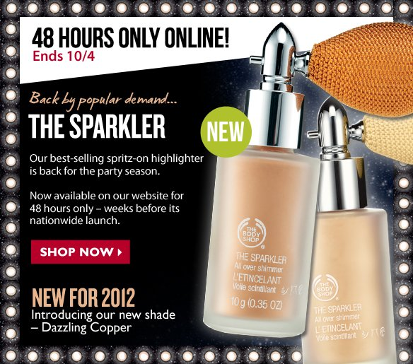 48 Hours Only Online! Ends 10/4 - Back by popular demandThe Sparkler