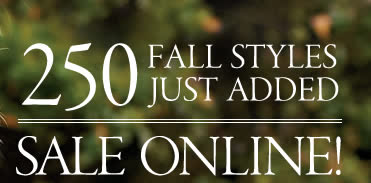 250 fall styles just added to sale   online